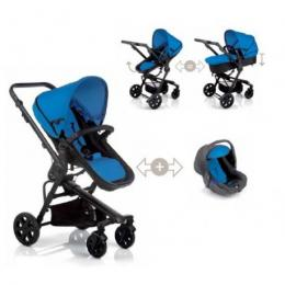 Deluxe Stroller + Flat Base Carry Cot (Complete) Baby Flat Base + Chassis