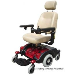 Mid-Wheel Power Chair Electric Wheelchairs