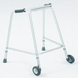 Leichtgewichtgehgestell.Mit zwei Rädern Gehgestell